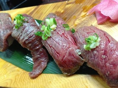 石垣牛の炙り寿司